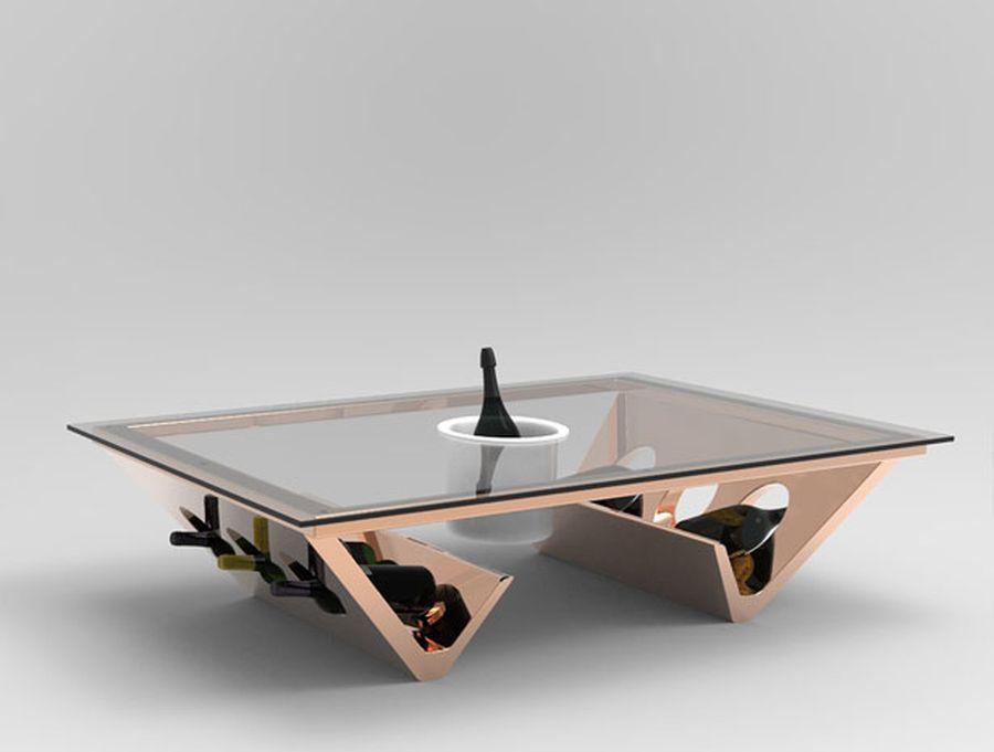 Futurisztikus dohányzóasztal