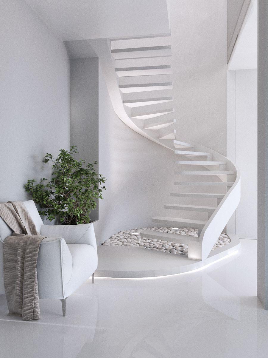 Kijevi penthouse fehérben
