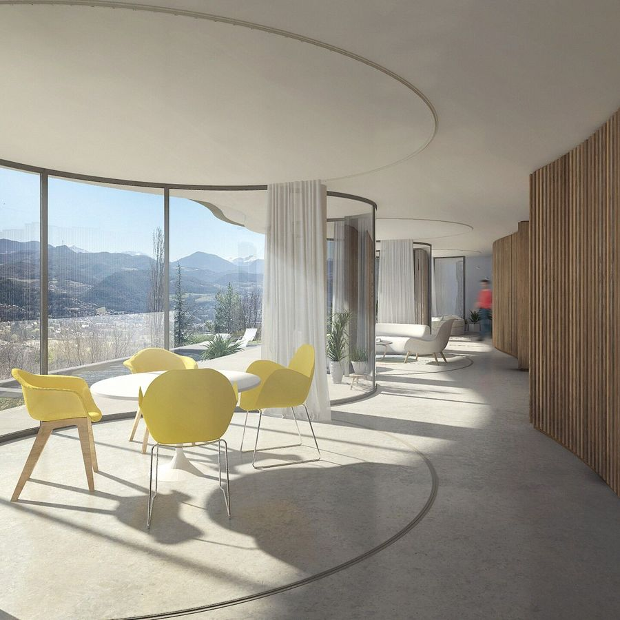 Redőzött ház az Alpokban